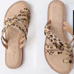 Naughty monkey Zooche Leopard Print Pony Sandals